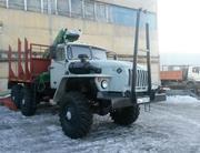 Лесовоз Урал 43204 с манипулятором 2015
